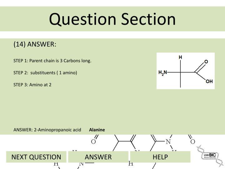 (14) ANSWER: