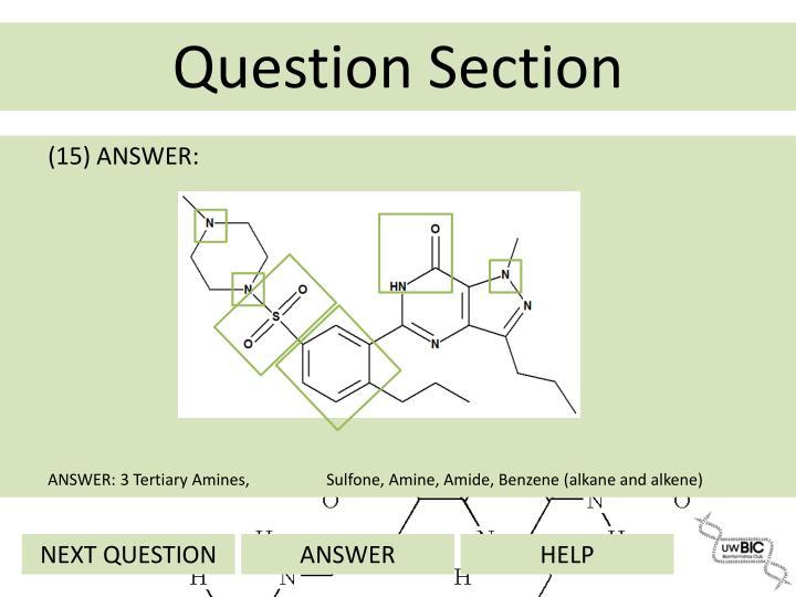 (15) ANSWER: