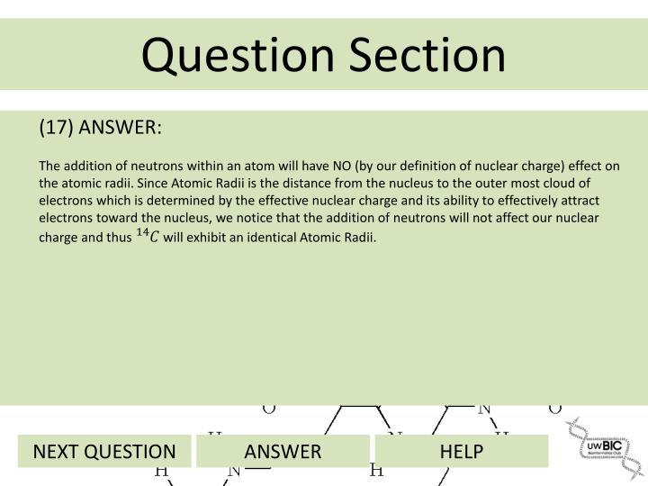 (17) ANSWER: