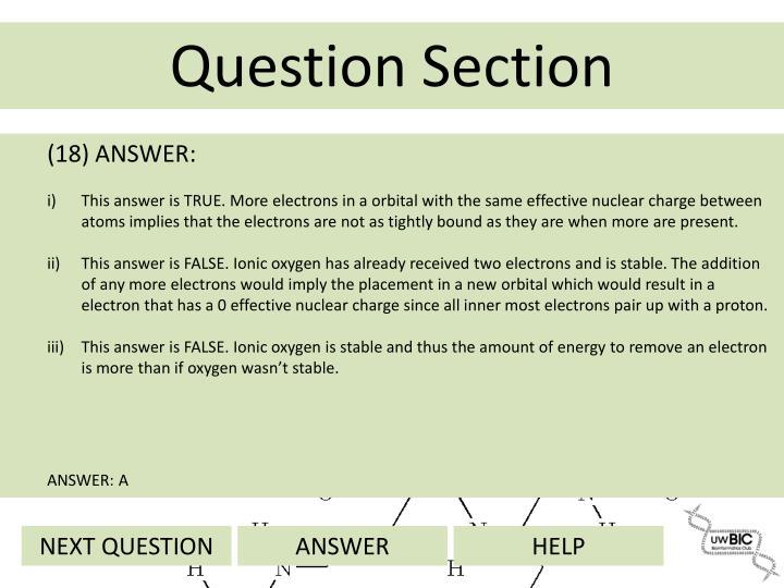 (18) ANSWER: