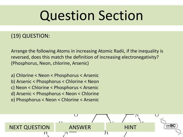 (19) QUESTION: