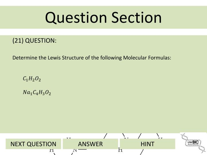 (21) QUESTION: