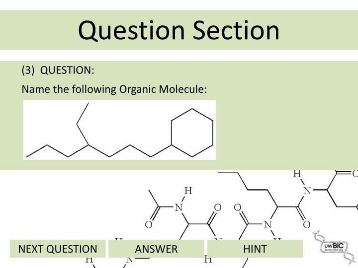 (3)  QUESTION: