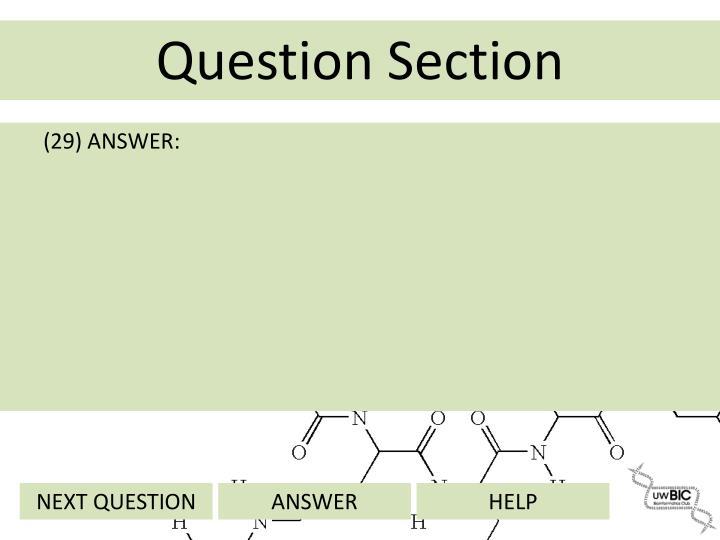 (29) ANSWER: