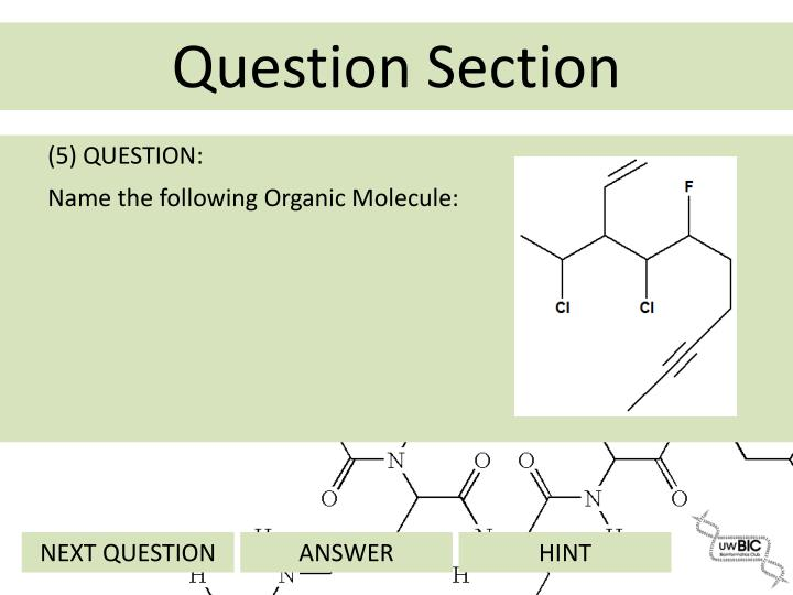 (5) QUESTION: