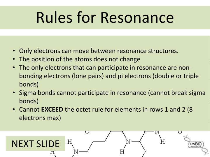Only electrons can move between resonance structures.