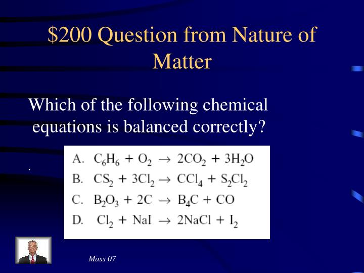 $200 Question from Nature of Matter