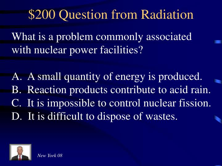 $200 Question from Radiation
