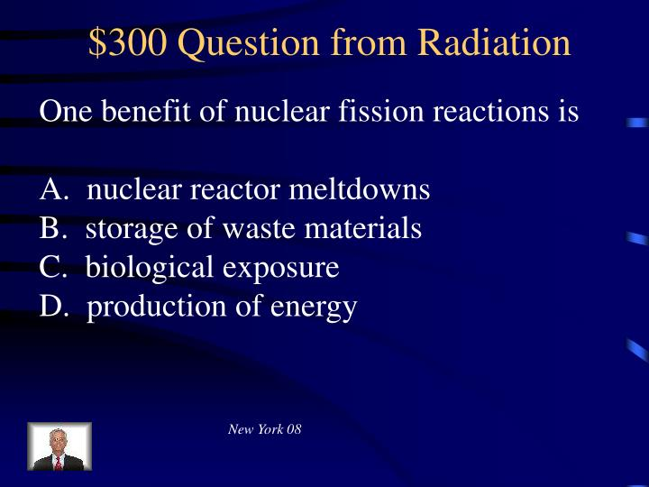 $300 Question from Radiation