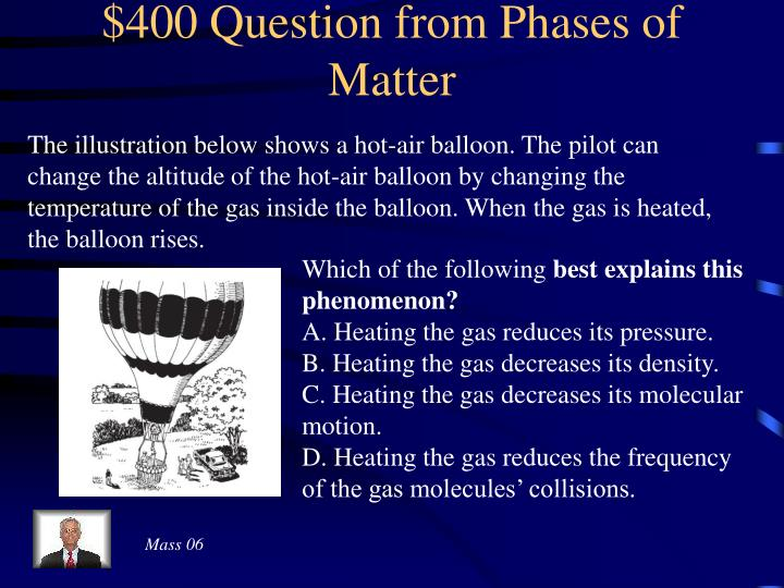 $400 Question from Phases of Matter