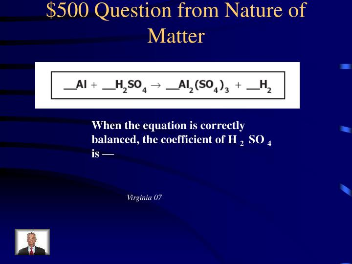 $500 Question from Nature of Matter