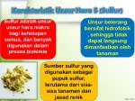 karakteristik unsur hara s sulfur