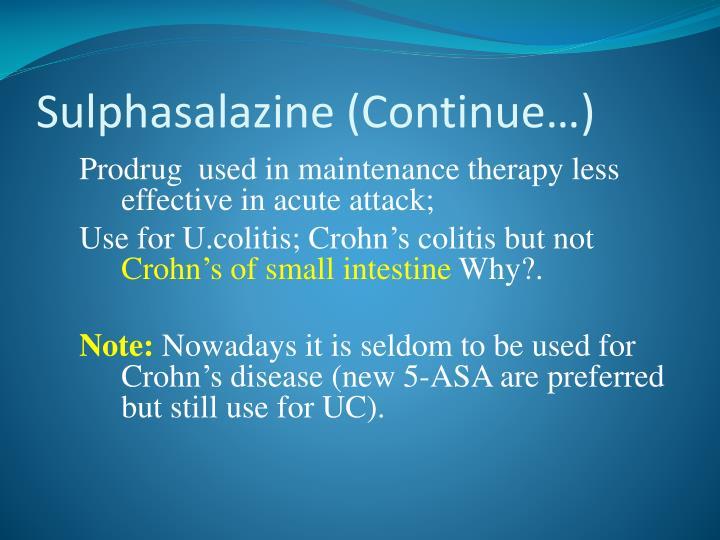 Sulphasalazine
