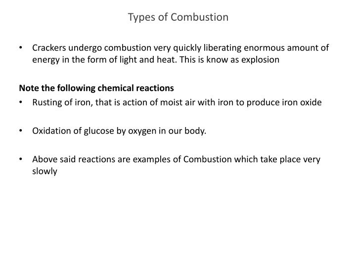 Types of Combustion