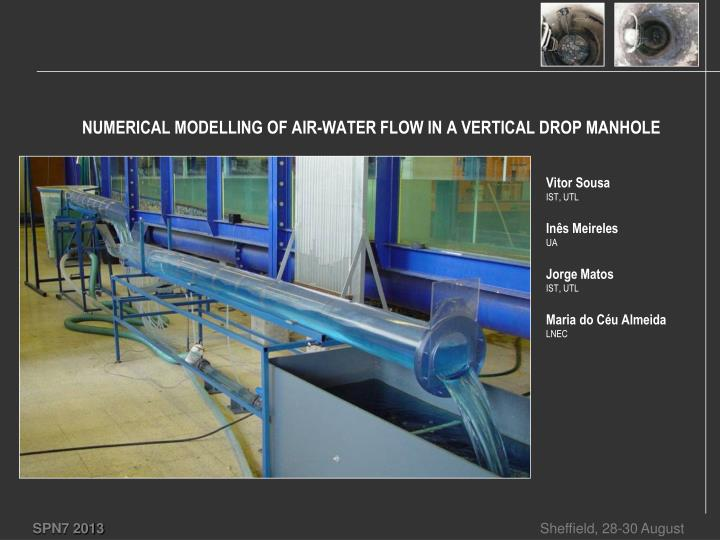 numerical modelling of air water flow in a vertical drop manhole