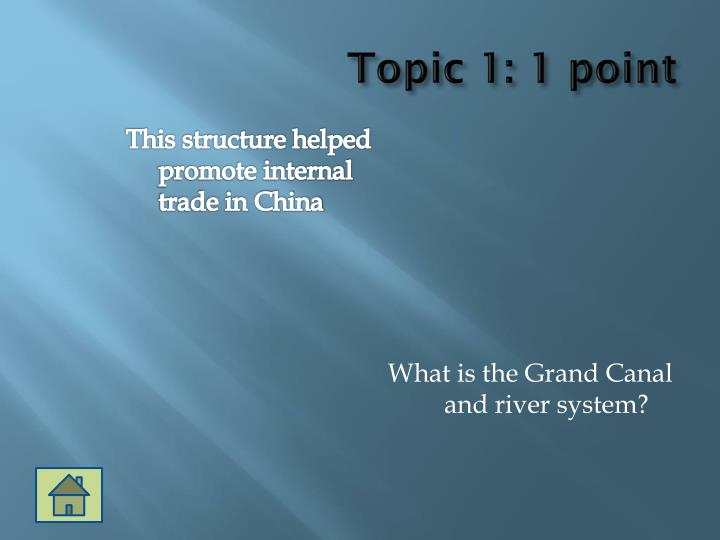 Topic 1: 1 point