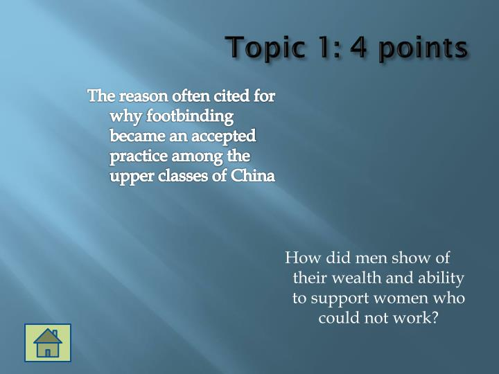 Topic 1: 4 points