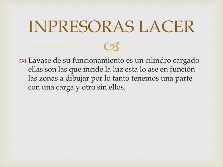 INPRESORAS LACER