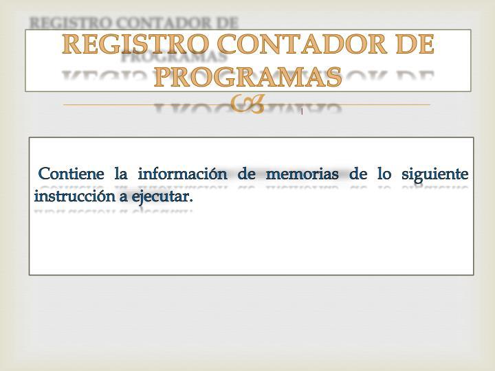 REGISTRO CONTADOR DE PROGRAMAS