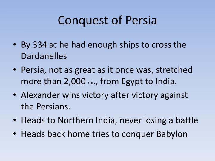 Conquest of Persia