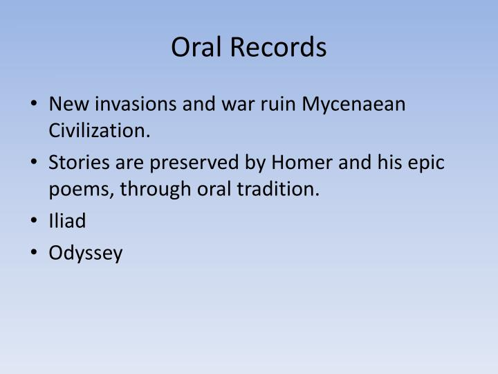 Oral Records