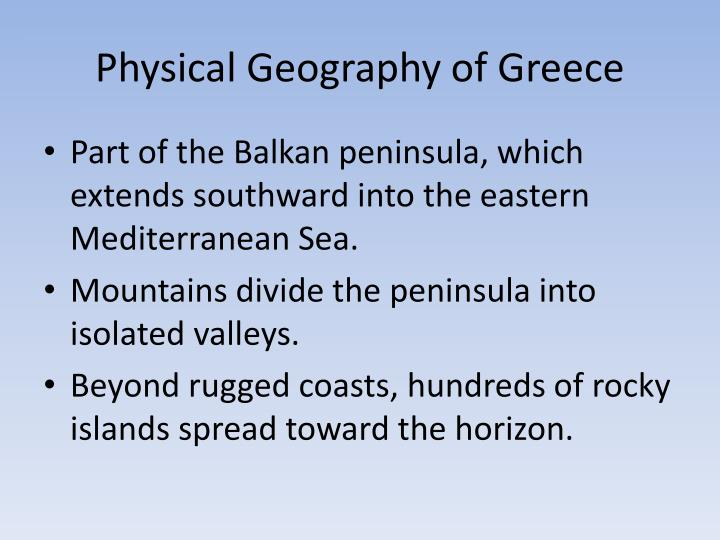 Physical Geography of Greece