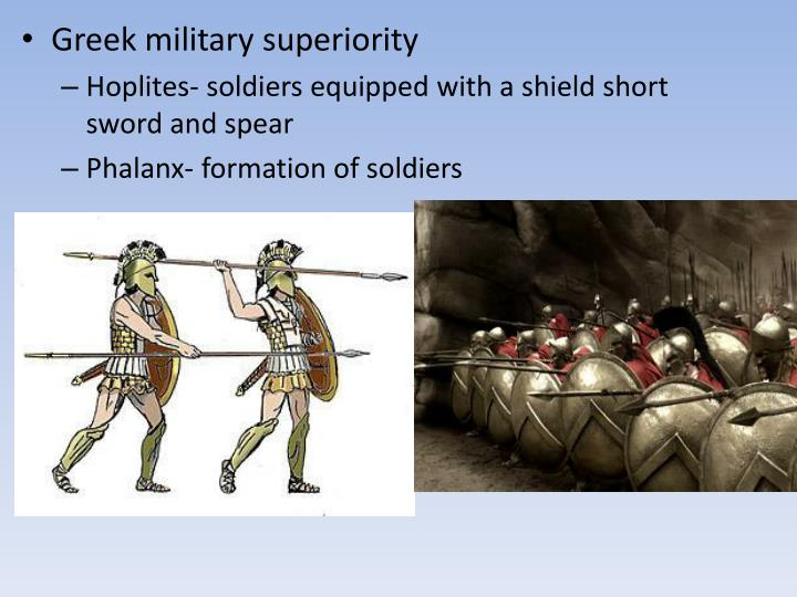 Greek military superiority