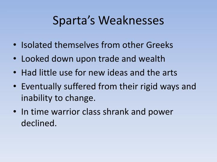 Sparta's Weaknesses
