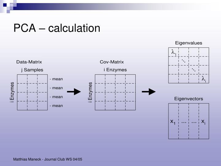 PCA – calculation