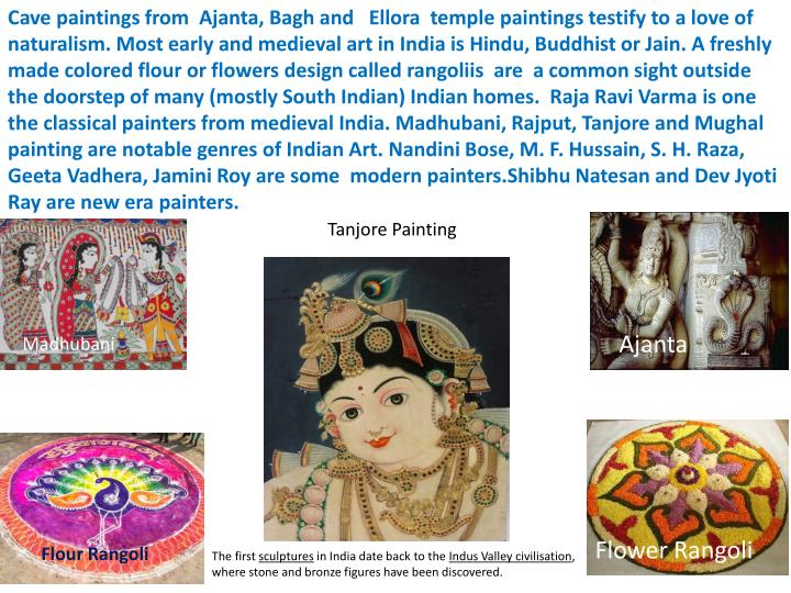 Cave paintings from Ajanta,