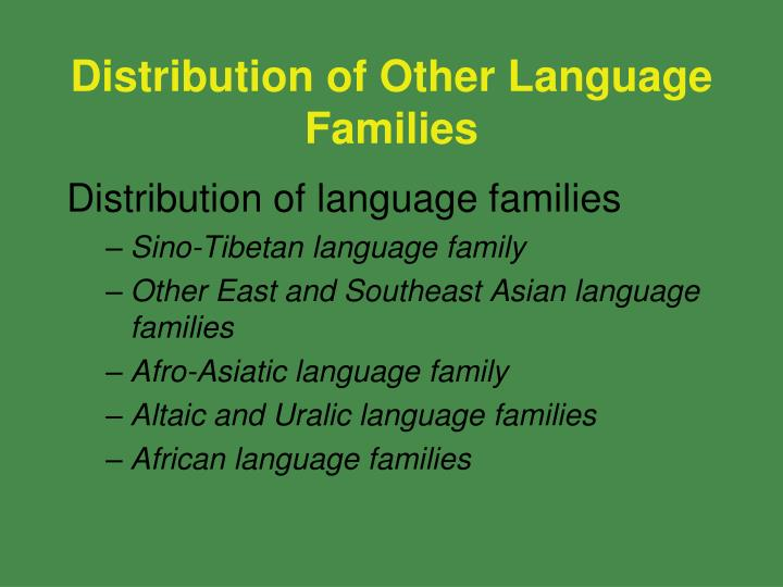 Distribution of Other Language