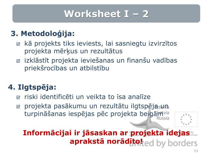 Worksheet I – 2