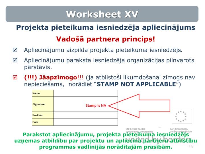 Worksheet XV