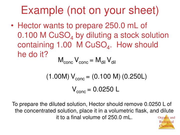 Example (not on your sheet)