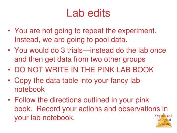 Lab edits