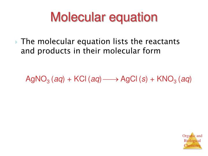 Molecular equation