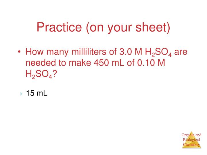 Practice (on your sheet)