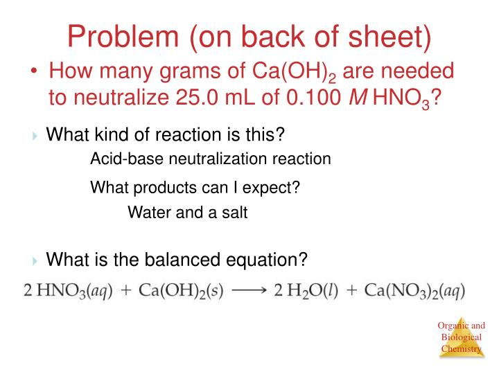 Problem (on back of sheet)