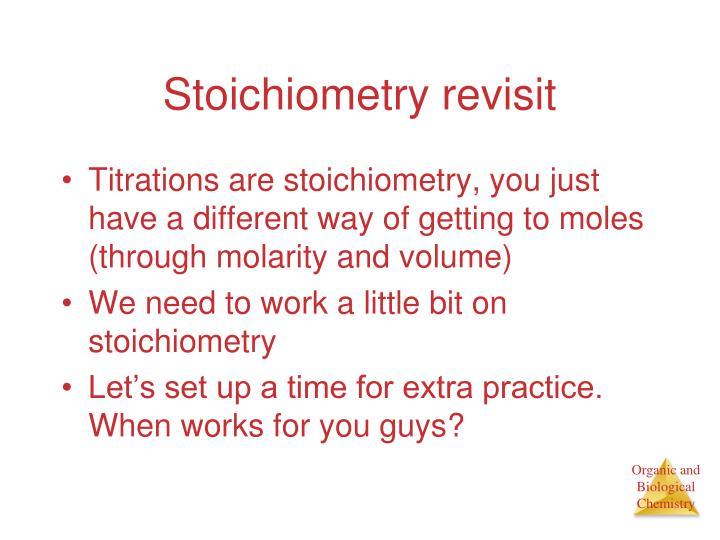 Stoichiometry revisit