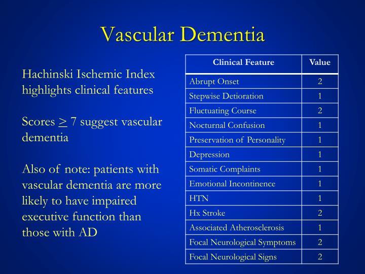 Vascular Dementia