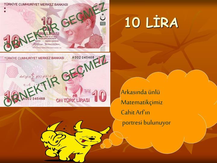 10 LİRA
