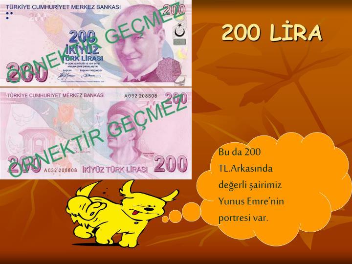 200 LİRA