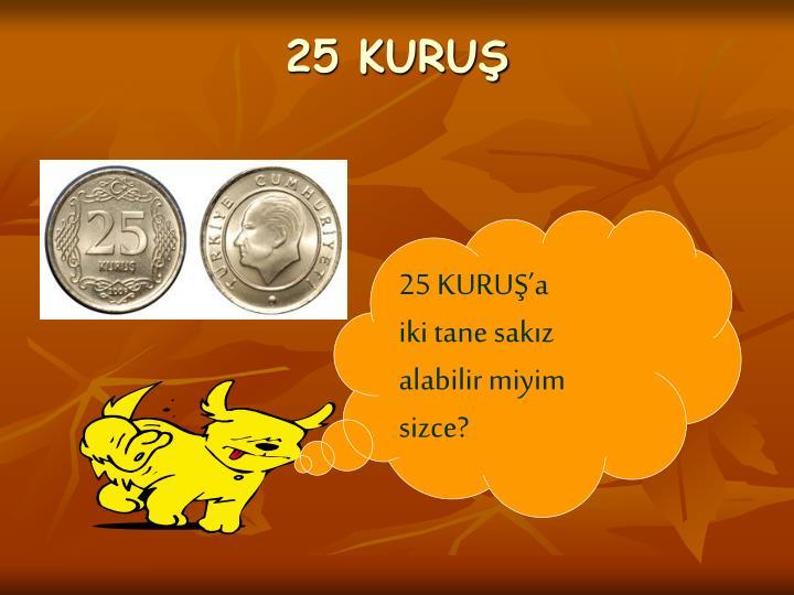 25 KURUŞ