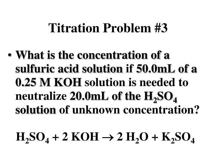 Titration Problem #3