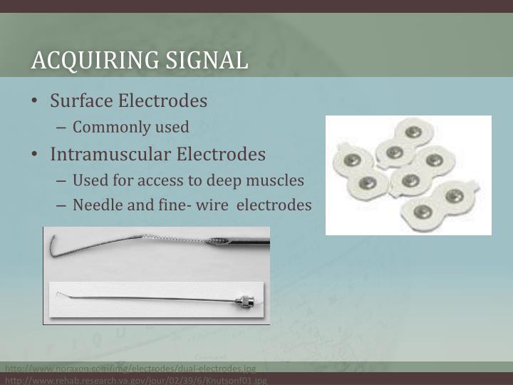 Acquiring signal