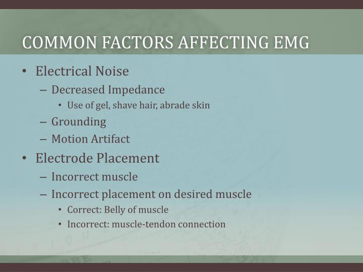Common factors affecting