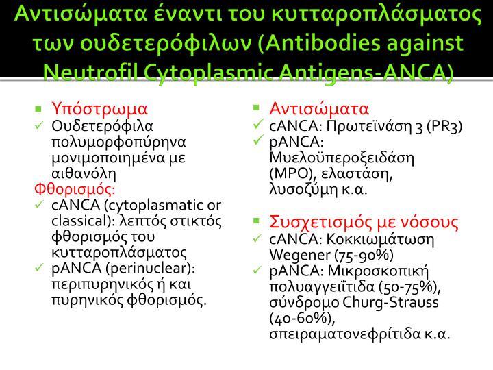 Αντισώματα έναντι του κυτταροπλάσματος των ουδετερόφιλων (