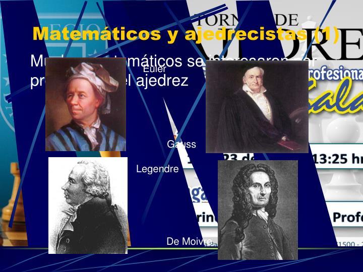 Matemáticos y ajedrecistas (1)