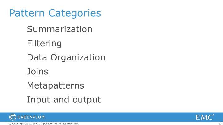 Pattern Categories