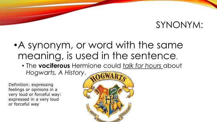 Synonym: